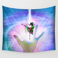 dancer Wall Tapestries featuring Tiny Dancer by Peter Gross