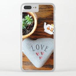 Love-Succulent-Tea Clear iPhone Case