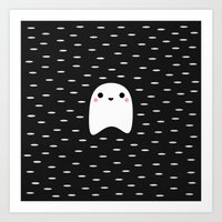 ghost busters Art Prints featuring Ghost by Elisabeth Fredriksson