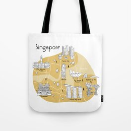 Mapping Singapore  - Yellow Tote Bag