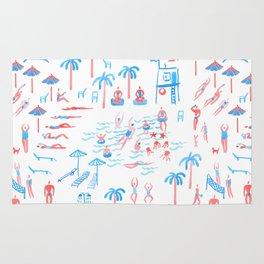 beach club pattern Rug