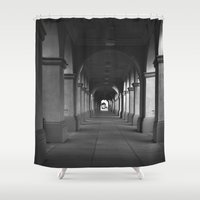 infinite Shower Curtains featuring Infinite by ravenchantdesigns