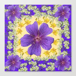PANTENE ULTRA VIOLET PURPLE FLOWERS ART DESIGN Canvas Print