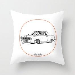 Crazy Car Art 0212 Throw Pillow