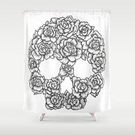 Skull of Roses Shower Curtain