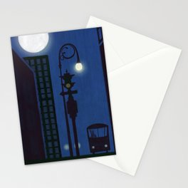 Last Stop For The Night Bus Stationery Cards