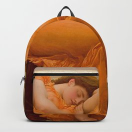 Flaming June - Frederic Lord Leighton Backpack