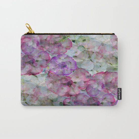 Mesmerizing Floral Abstract Carry-All Pouch