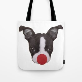 Boston Terrier Puppy Christmas Rudolph  Tote Bag
