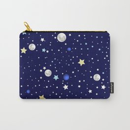 Universe pattern; Moon, Stars and Neptune Carry-All Pouch