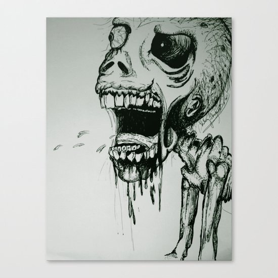 Scream Zombie! Canvas Print