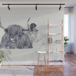 A Wandering Bull (Taurus) Wall Mural