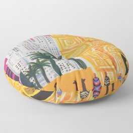 South America Vintage Travel Poster Floor Pillow