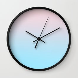 HEAD IN THE CLOUDS - Minimal Plain Soft Mood Color Blend Prints Wall Clock