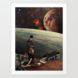 The Roses Came Art Print