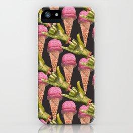 zombies love ice cream iPhone Case