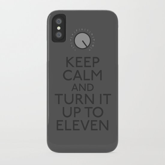Turn it up to eleven iPhone Case