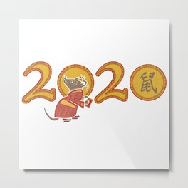2020 The Year of the Metal Rat Metal Print