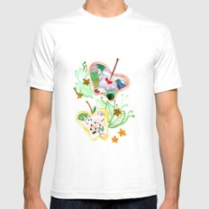 From apple land SMALL Mens Fitted Tee White