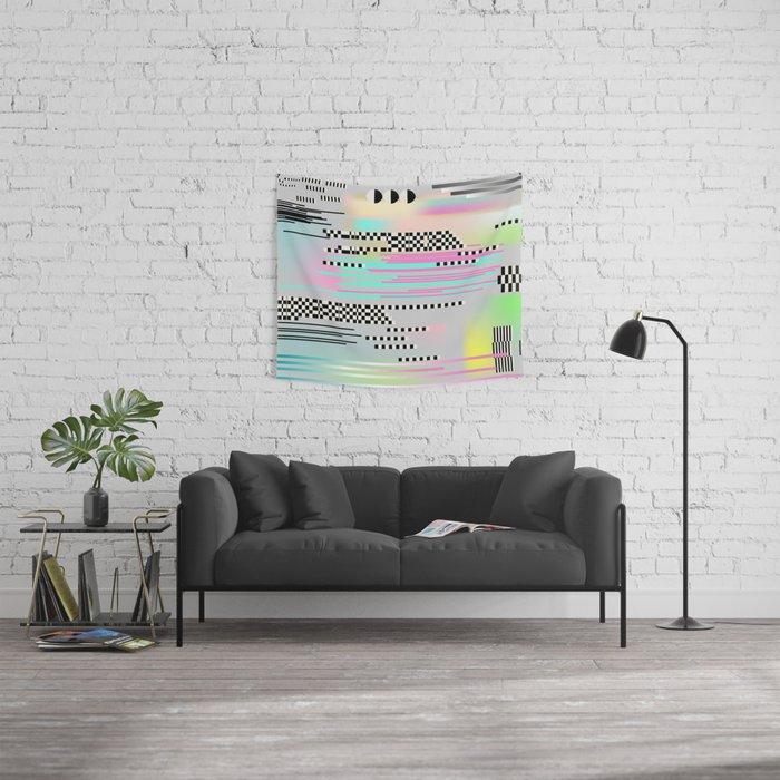 Glitch art effect Wall Tapestry