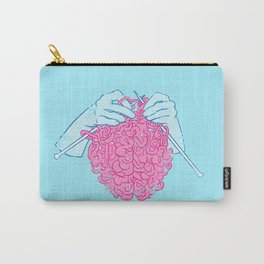 Knitting a brain Carry-All Pouch