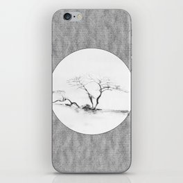 Scots Pine Paper Bag Grey iPhone Skin