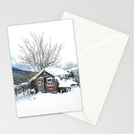 Rustic Shed Snowday Stationery Cards