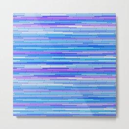 Blue Purple Random Lines Metal Print