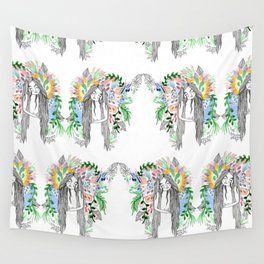 The flowers twins Wall Tapestry