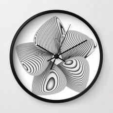 Bio Flower Art Print Wall Clock