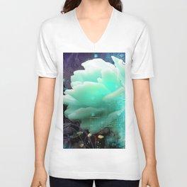 Aqua Rose Unisex V-Neck