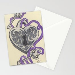 Love Lock Down Stationery Cards