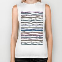 mineral Biker Tanks featuring Mineral Stripes by artberry