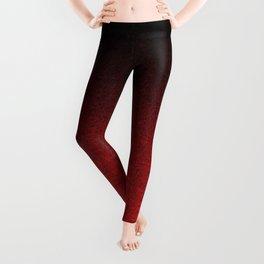 Red & Black Glitter Gradient Leggings