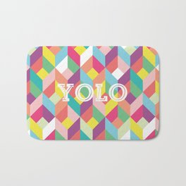 YOLO Geometric Bath Mat