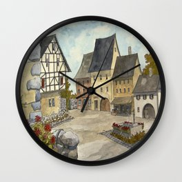 German Village Wall Clock