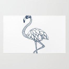 Navy Blue Flamingo Rug