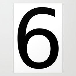 6 - Six Art Print