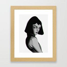 MIA WALLACE, PULP FICTION Framed Art Print