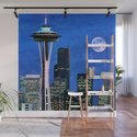 Blue Seattle Space Needle by stine1