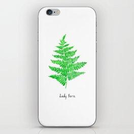 Lady fern iPhone Skin