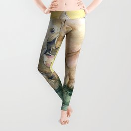 Colorful Mother's Love - Elephant Leggings