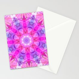 Pink Star Stationery Cards