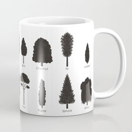 Infographic Guide for Tree Species by Shapes or Silhouette Coffee Mug