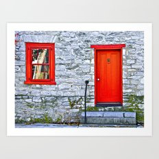 Winchester Red Door Art Print