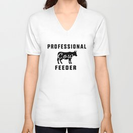 profesional feeder cow Unisex V-Neck