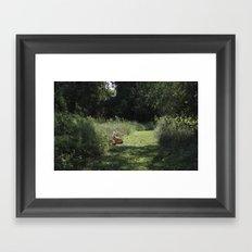 we move lightly Framed Art Print