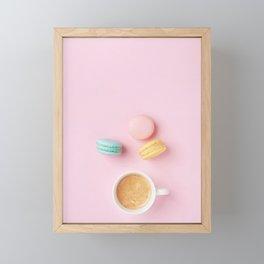 Colorful Macaroons & Coffee Framed Mini Art Print
