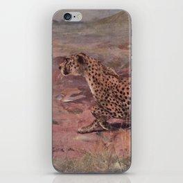 Vintage Cheetah Painting (1909) iPhone Skin