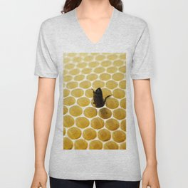 Bee in the honeycomb Unisex V-Neck